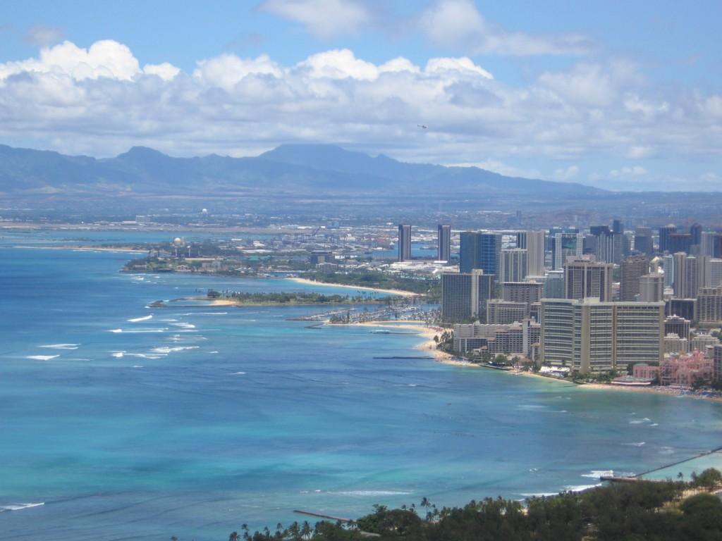 Waikiki Honolulu Oahu Atop Diamond Head