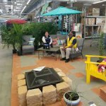 San Jacinto Walmart lounging image in garden center