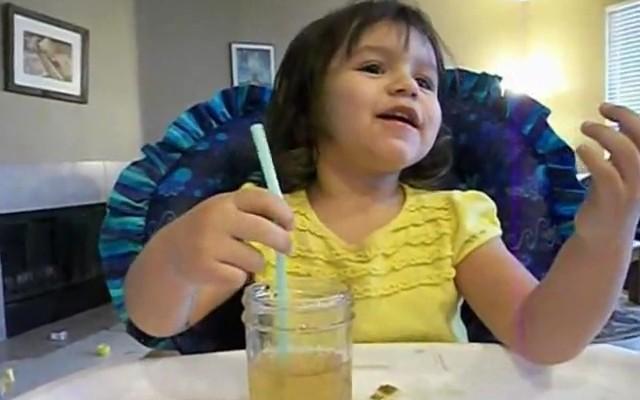 Zoey Blows Bubbles